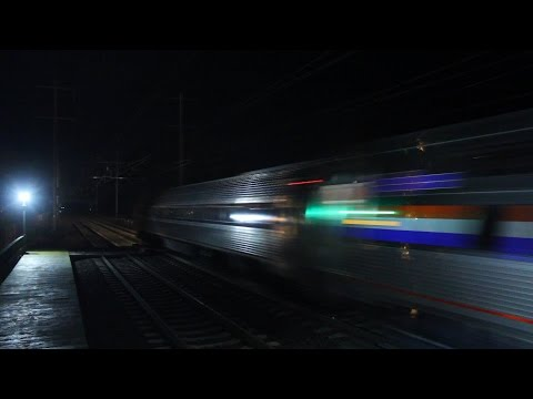 Amtrak 140 MPH Viewliner II Test Train Destroys Princeton JCT