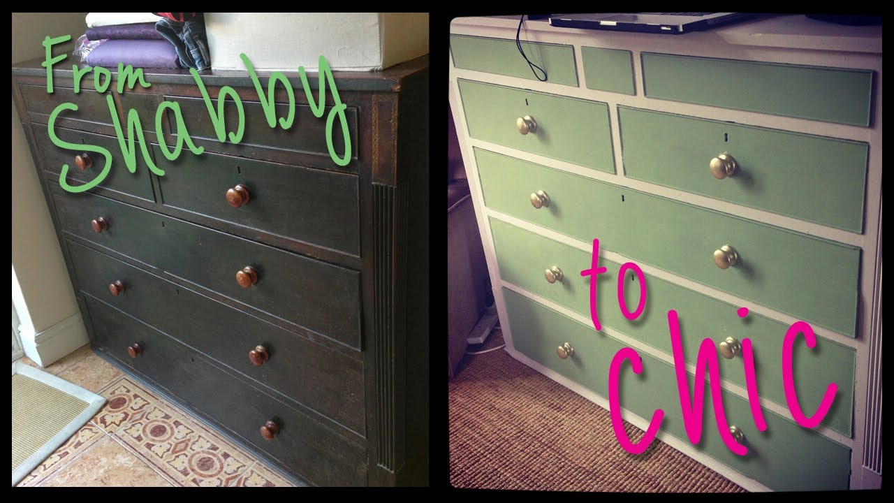 Diy shabby chic furniture - Diy Shabby To Chic Furniture Transformation