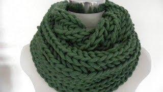 Repeat youtube video Stricken - Schal oder Loop im Patentmuster - hatnut Cool - Veronika Hug