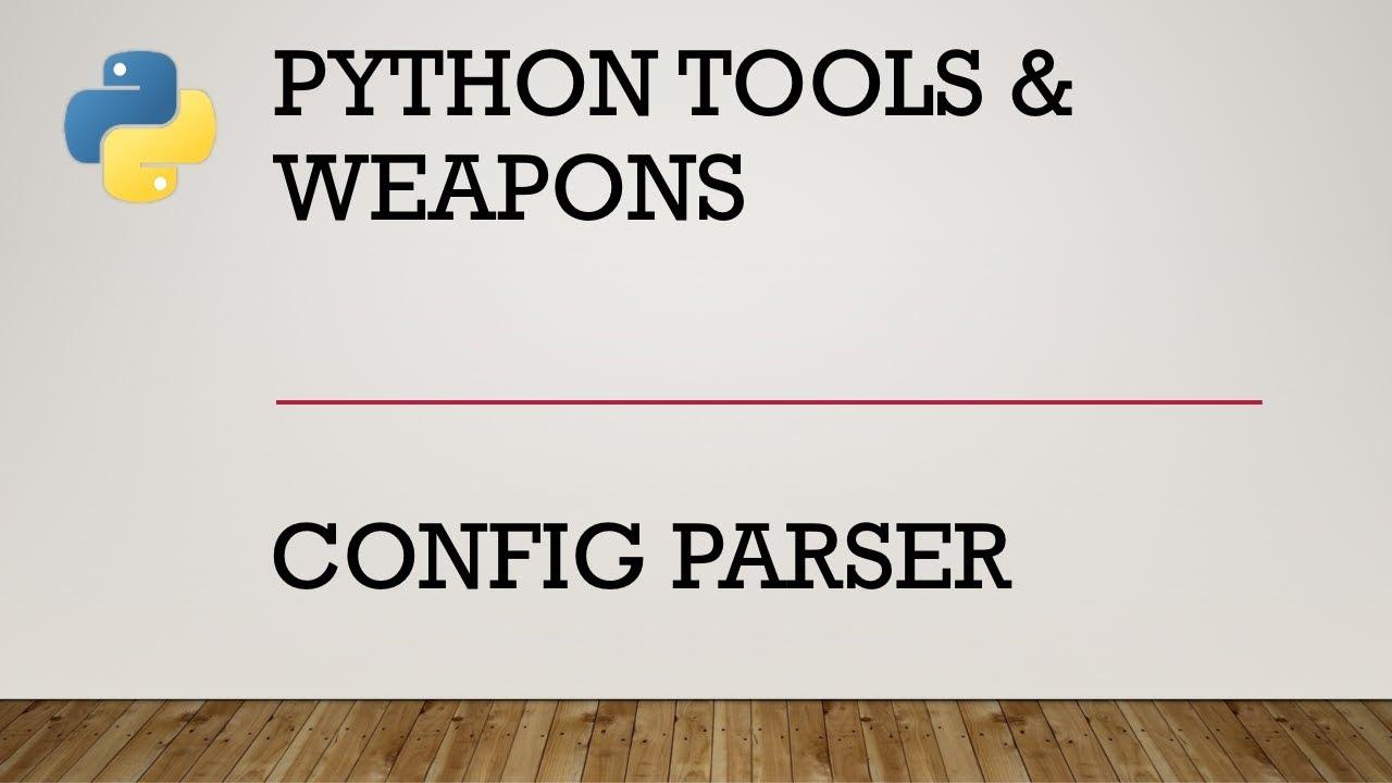 Python Config Parser