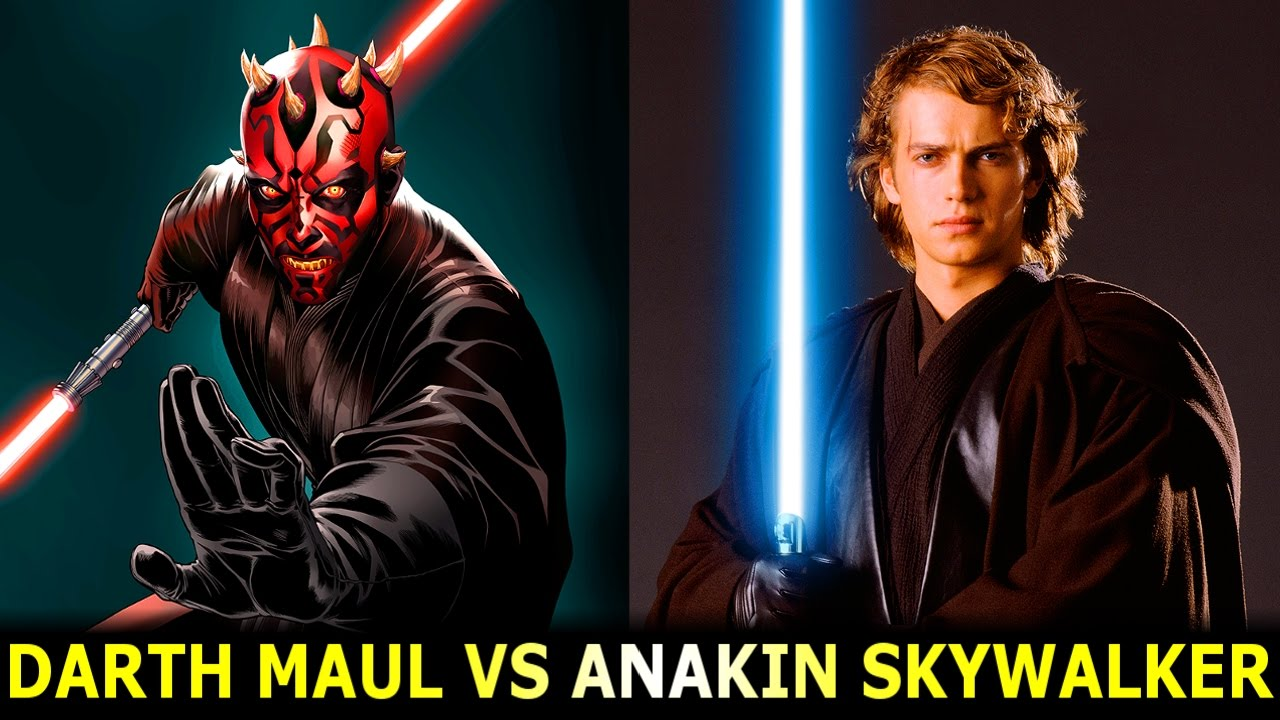 Darth Maul Vs Anakin S... Anakin Skywalker Vs Darth Maul