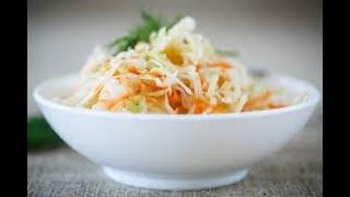 Семья Бровченко. Вкусный и полезный салат из квашеной капусты. Рецепт.