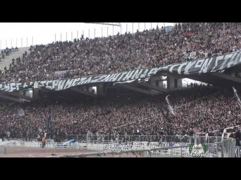 PAOK FANS In Athens OAKA Stadium Cup Final 2014