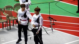 170116 isac bts cutie taehyung playing archery