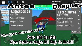 Como Subir Super Rápido Las Stats En Dragon Ball Rage sin hacks!!  Tips para entrenar rápido!!