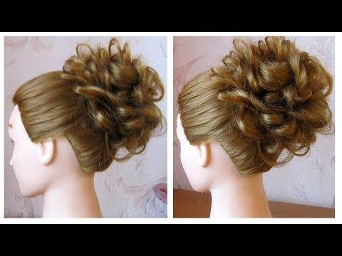 Chignon tressé facile 🌺 Tuto coiffure de soirée cheveux long /mi long