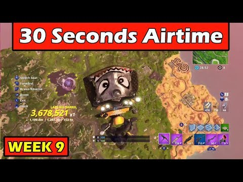 """GET 30s OF AIRTIME ON A VEHICLE"" Fortnite Week 9 Challenge!"