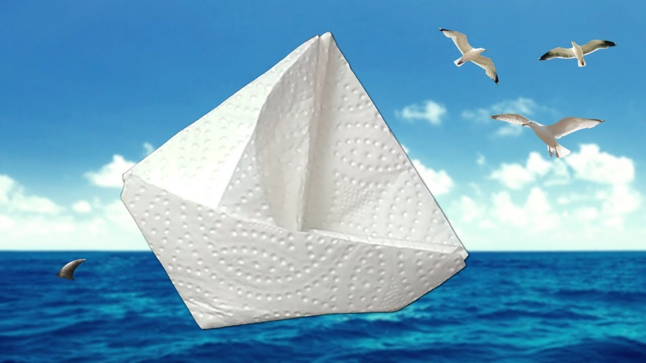 Diy Origami How To Fold A Napkin In Sailboat Diy Easy And Fast