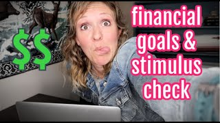 FINANCIAL GOALS UPDATE APRIL 2020 | SPENDING MY STIMULUS CHECK | DEBT FREE LIFE