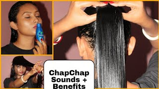 Coconut Oil Heavy Hair Oilling+CHAMPI Oilling & its Benefits ||Combing | Indian Girl Chumki