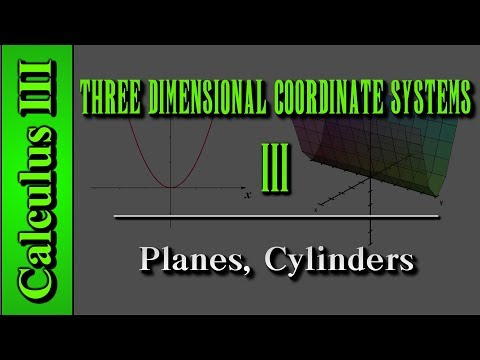 Calculus III: Three Dimensional Coordinate Systems (Level 3 of 10) | Planes, Cylinder