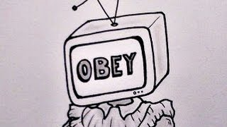 How to Draw MEDIA SLAVE - OBEY