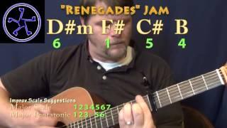 renegades jam - 6154 in f# major - acoustic guitar instrumental
