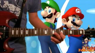 Guitar Cover || Super Mario Bros. Theme Song - Super Mario Bros. (+Tabs & Backing Track!)