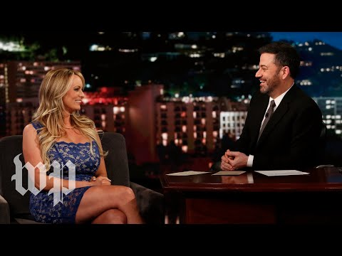 Stormy Daniels dodges Jimmy Kimmel's questions about Trump