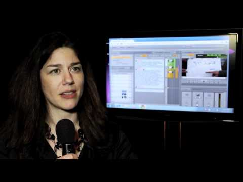 AVID at NAB 2011: Christine Viera about product in...