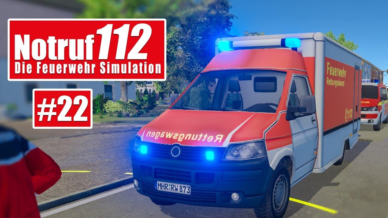 NOTRUF 112 #22: Autounfall mit Totalschaden! I Gameplay Notruf 112 ...