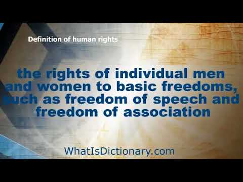 What Is human rights   Define human rights Definition & Meaning   WhatIsDictionary com