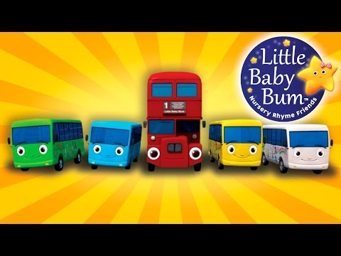 Thumbnail: Ten Little Buses | From Wheels On The Bus | Nursery Rhymes | by LittleBabyBum!
