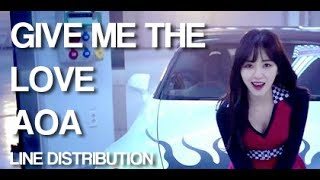 Скачать AOA Give Me The Love Line Distribution