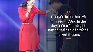 Hoàng Oanh gây sốt với bài diễn thuyết về tình yêu trong game show