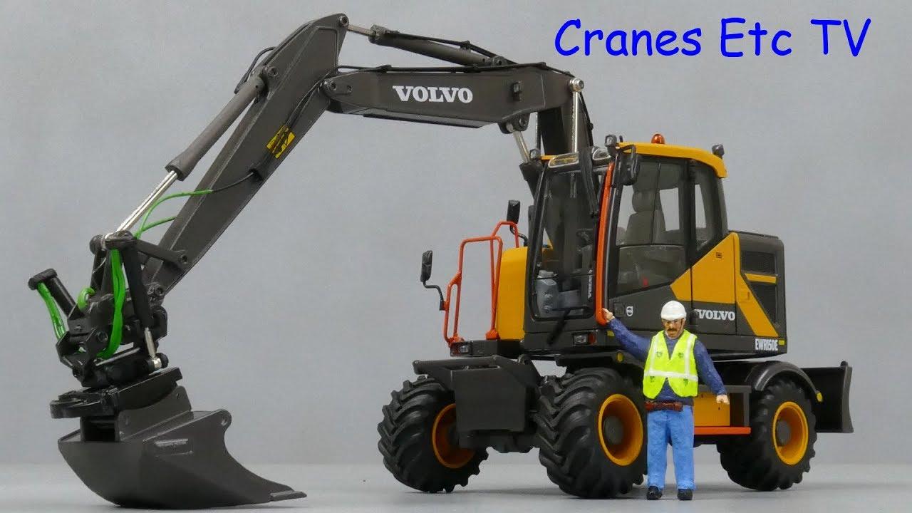 Duplo Coleções em escala 1:32 Volvo Escavadeira EWR 150E Com Rodas Pneus