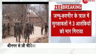 J&K: 3 terrorists neutralised in Tral encounter; search operations underway