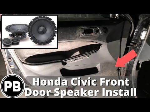 2001 - 2005 honda civic front door component speaker install alpine sps-610c