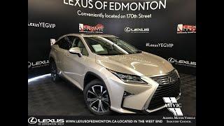 Tan 2019 Lexus RX 350 Luxury Package Review Edmonton Alberta - Lexus of Edmonton New