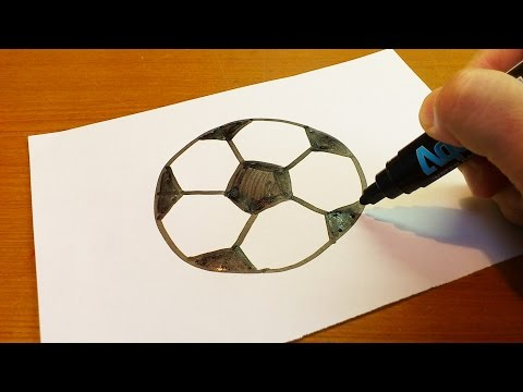 Very Easy !  How To Draw A Soccer Ball Art for Kids Hub  Art fo - art on paper for kids
