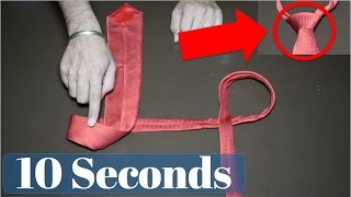 How to wear a tie in 10 seconds - Step by step tutorial