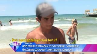 Kavurucu Sıcaktan Bunalanlar İstanbul'da Kilyos Plajına Akın Etti