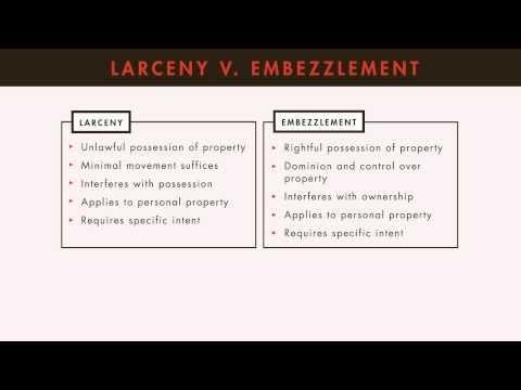 Criminal Law tutorial: Embezzlement and False Pretenses | quimbee.com