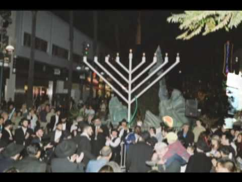 The City with the most Public Menorahs Simcha Monica