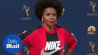 Jenifer Lewis keeps it sporty on the 2018 Emmy Awards carpet