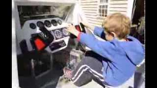 Jake's Doodlebug Pedal Powered Propeller Airplane For Kids.