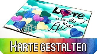 Art Journal Karte gestalten: Love is in the Air