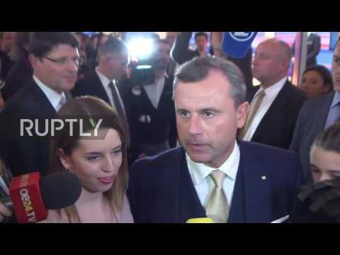 Austria: 'Of course, I'm disappointed,' says Hofer after conceding defeat in pres. election
