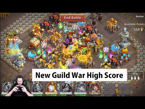 JT's Free 2 Play New Anubis + Michael Owning Guild Wars Castle Clash