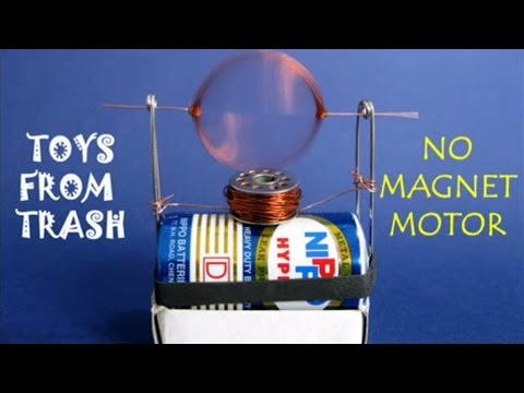 No magnet motor english youtube for Science projects using motors