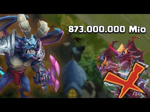 Castle Clash - Archdemon Eyecatcher F2P Heroes NO Demogorgon 873M Damage