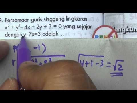 Persamaan Lingkarangaris singgung yang sejajar