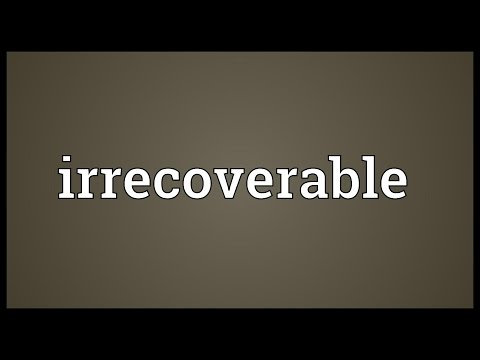 Header of irrecoverable
