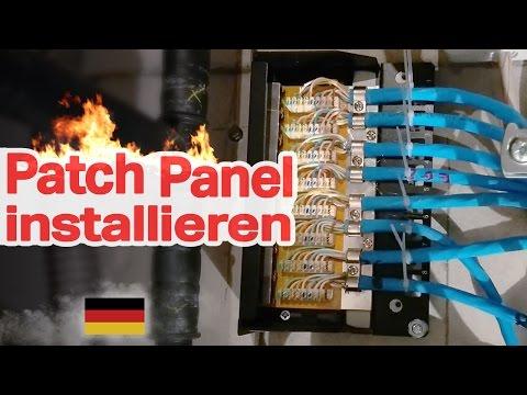 Patch Panel installieren (DIY, Netzwerk, RJ45, Network, Installation, How To, deutsch)