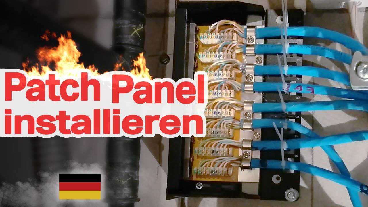 Patch Panel installieren (DIY, Netzwerk, RJ45, Network, Installation ...