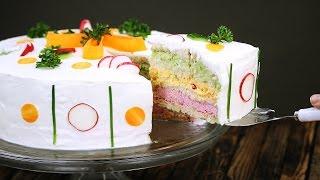 Шведский бутербродный торт