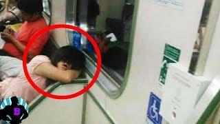 6 странных событий, произошедших в  метро, заснятых камерами!