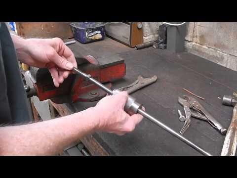 Make a vise grip pliers slide hammer attachment