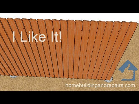 How To Build A Wood Fence With Overlapping Angled Pickets - Design And Assembly Ideas