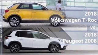 2018 Volkswagen T-Roc vs 2018 Peugeot 2008 (technical comparison)